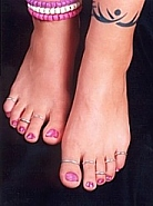 FOOTSIES has anklets, toe rings, toe nail polish, barefoot sandals and more!
