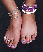 FOOTSIES has anklets, toe rings, nail polish, barefoot sandals and more!